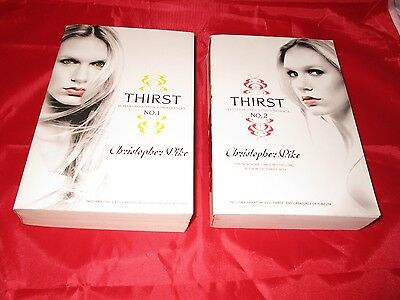 Christopher Pike 2 Paperback Book Lot Thirst 1 and 2 The Last Vampire