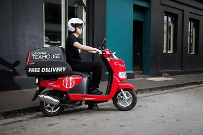 Tonelli Delivery Motor Scooter - RED Color