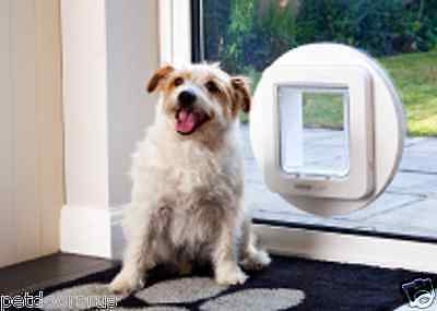 WHITE SureFlap Microchip Pet Door for Cats & Dogs, No Power, With Curfew Mode
