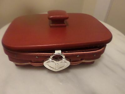 Longaberger Sweetheart Key To My Heart Basket Combo Red Hearts Valentine