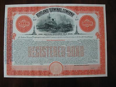Portland Terminal Company First Mortgage Registered Gold Bond Certificate Mecrr