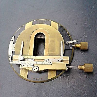 Rare Antique Vintage Carl Zeiss Jena No 4529 Brass Microscope Stage Part Germany
