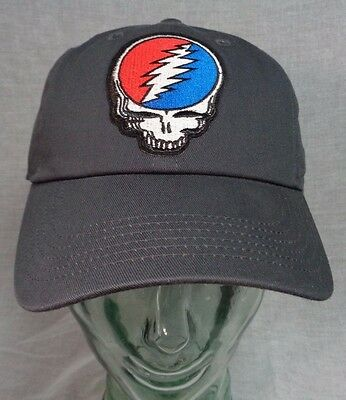 0fc11548d2dfe5 grateful dead dad hat baseball cap gray hippie psychedelic steal your face