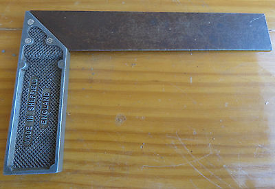 """Vintage 7"""" Set Square, Alloy Handle, Made In Sheffield England. Old Tools"""