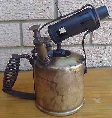 Vintage Radius No. 55 Brass, Blow Torch, Made In Sweden.  Collectible