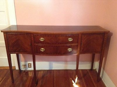 Ethan Allen buffet with beautiful inlay work..Mahogany