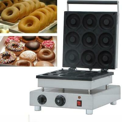 110v Commercial Nonstick Electric 9pcs  Mini Doughnut Baker Donut Maker Machine