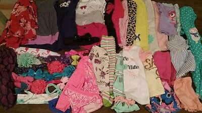 baby girl clothes lot 12-24 month 32 pieces plus bows