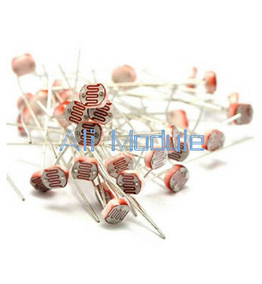 50PCS Photo Light Sensitive Resistor Photoresistor Optoresistor 5mm GL5528 AM