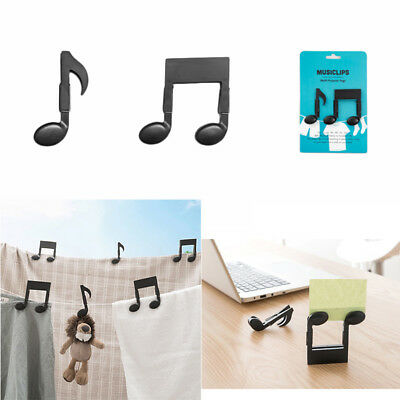 Musical Note Clothespin File Clamp Bookmark Food Snack Sealing Clip Hot x 1 Set