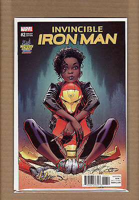 Invincible Iron Man #2 J Scott Campbell Midtown Riri Willams Variant Nm/mt