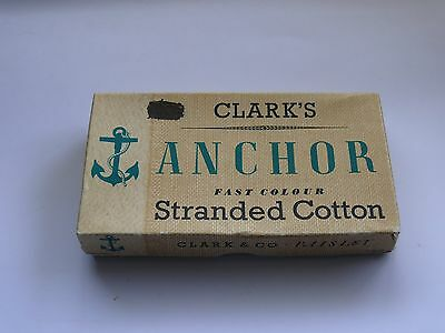 Vintage Boxed Clarke's Anchor Embroidery Cotton