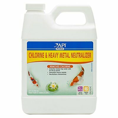 API Fishcare Pondcare Chlorine and Heavy Metal Neutralizer 32-Ounce