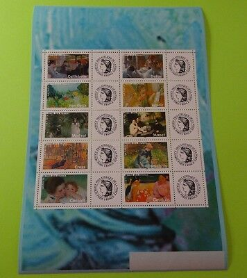 Stamps * FRANCE * SC 3175 * Impressionist Paintings * 2006 * MNH * Sheet of 10