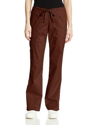 Cherokee Women's Workwear Scrubs Mid-Rise Core Stretch Drawstring Cargo Pant ...