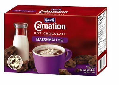 Carnation Hot Chocolate with Marshmallows 10-Count Box 28g Envelopes