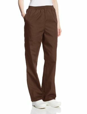 Cherokee Women's Workwear Scrubs Pull-On Pant Chocolate Small