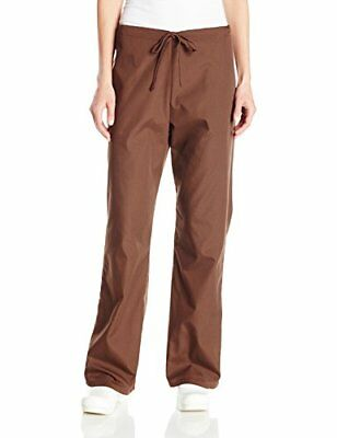 Cherokee Women's Workwear Scrubs Flare-Leg Drawstring Pant Chocolate Small Tall