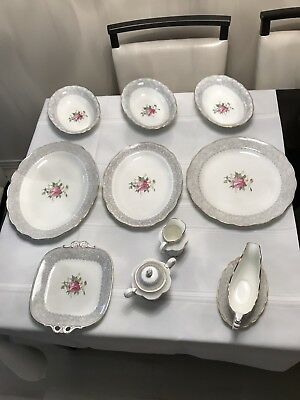 COALPORT GAY MOMENTS R664 (c.1950's) 83 PIECE SET- RARE! MINT! GILT!