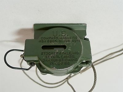 """Vintage """"86""""  US Army Post Nam Combat Magnetic Field Military Survival Compass"""