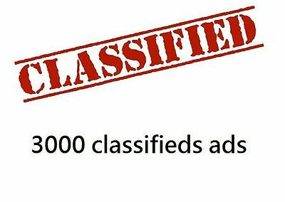 SEO Post Advertise your solo ads in up to 3000 classifieds ads websites