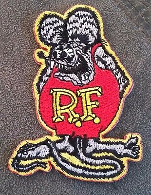 """""""RAT FINK"""" EMBROIDERED PATCH HOT ROD CAR SURFBOARD TRUCK SURFING HOLDEN FORD vw"""
