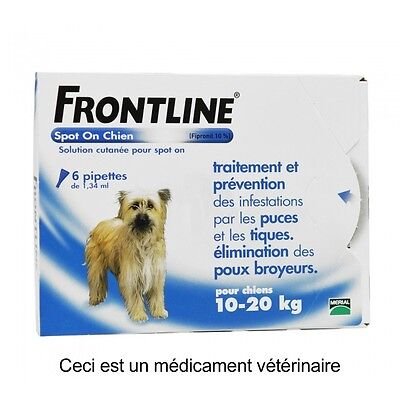 Frontline spot-on chien M 10-20kg 6 pipettes