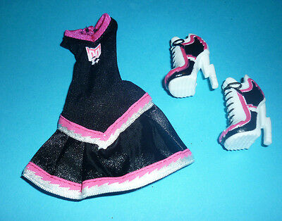 """Monster High Dress & Shoes from """"Fearleading"""" Doll Series for Play/OOAK"""