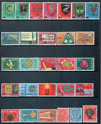 SWITZERLAND - Mixed lot of 28 Stamps, most Good - Fine Used, LH