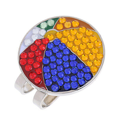 Golf Hat Clip With Detachable Magnetic Golf Ball Marker Ball Pattern