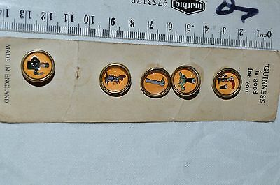 Guinness beer promo lapel pin badges,Brass. RARE