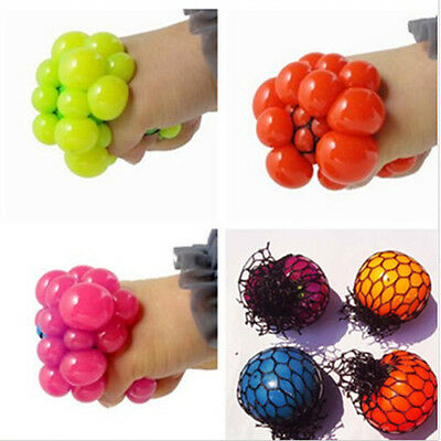1Pcs New Cute Anti Stress Face Reliever Grape Ball Autism Mood Squeeze Relief He