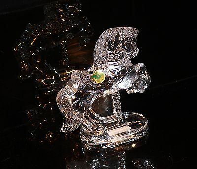 Reduced Rare Waterford Ireland Crystal Huge Ws Carousel Horse  1997