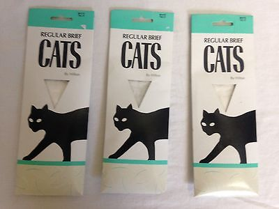 3 x packs Vintage pantyhose by Hilton regular brief in white size Talls