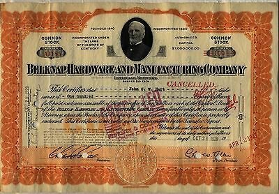 Black Tuesday October 29 1929 Belknap Hardware Stock Certificate Crash Kentucky