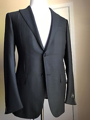 New $2495 Ermenegildo Zegna Sport Coat Blazer DK Gray Strip 38US ( 48 Eu ) Switz