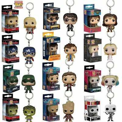 Gift Funko Pocket Pop! Keychain Groot, Batman, Hearly Queen Vinyl Figure Keyring