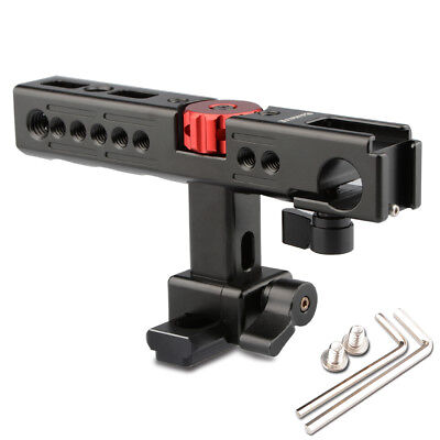 CAMVATE Nato Top Handle Kit with 15mm Rod Clamp Shoe Mount for Camera Cage Black