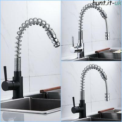EVERSO Modern Kitchen Pull Out Taps Basin Sink Mixer Chrome Spray Swivel Tap
