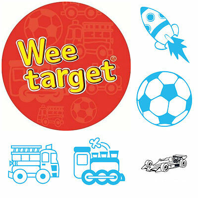 Wee Targets | Toilet Training For Boys | Rocket, Car, Ball, Train, Fire Truck