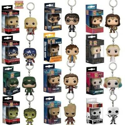 2017 Funko BOLSILLO POP! Llavero Groot ,Batman, hearly Reina Figura de vinilo