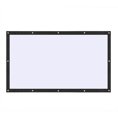 Super PVC Behind Back Rear Projection Screen Curtains for HD Projector Beamer SS