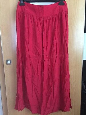 Womens Red Skirt Size 12