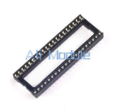 20Pcs 40pin DIP IC Adaptor Solder Type Socket Pitch Dual Wipe Contact NEW