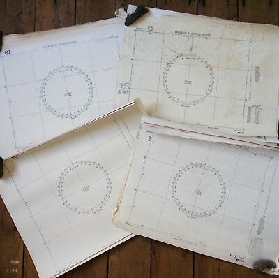 Lot of 69 Vintage Maps Nautical Position Plotting Sheets