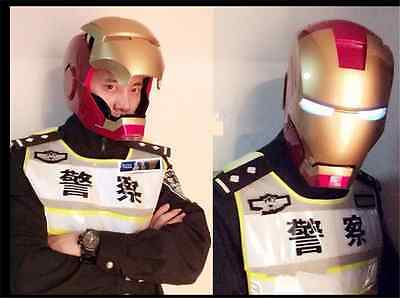 1:1 Full Scale Iron Man Helmet Replica Collectible Mask Manual Cosplay Prop Gift