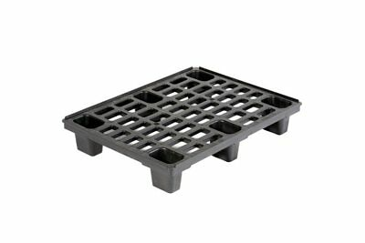 Small Nestable Plastic Pallet 800x600mm STACK of 4