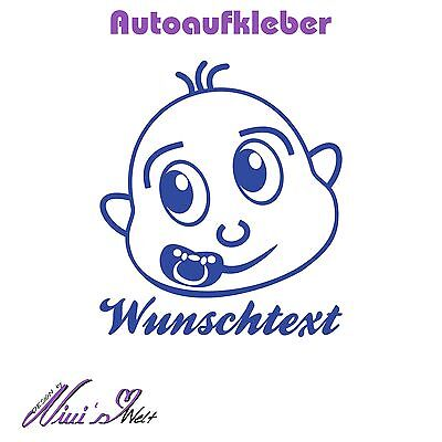 Autoaufkleber,Fun,Auto,Sticker,Tuning,Car,individuell,Baby,Name, ca.200x230mm