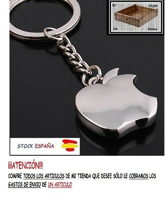 Llavero keychain apple iphone ordenador  mac  manzana metal Stock España