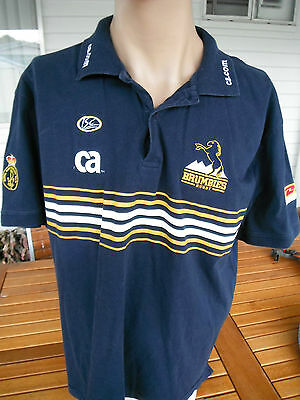 Vintage Act Brumbies Rugby Polo Shirtxl Cotton
